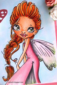 Copic Marker Spain: Saturated Canary ~Copic colors I have used are: Hair: Y21, R16, YR23, R05, R27. Skin: E000, E00, E11, E21. Freckles: E13, E33. Cheeks: E02. Dress: R81, R83, R85, BG02. Background: BG000, BG0000. Wings: RV02, RV000, G82, R000. Eyes: YG93, YG91, C1.