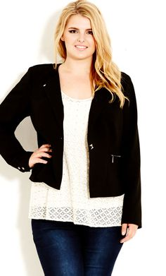City Chic - IMPERIAL JACKET - Women's Plus Size Fashion