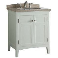 allen + roth Norbury White Undermount Single Sink Bathroom Vanity with Engineered Stone Top (Common: 30-in x 22-in; Actual: 30-in x 20.63-in)