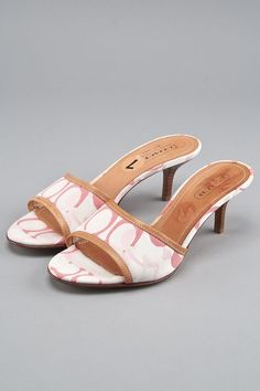 7bf7fbb580d New Coach Pink Multi Monogram Canvas Heels Louis Vuitton Consignment