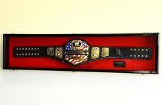 64 Adult Size WWE WWF Wrestling Belt Display Case by Displays4You