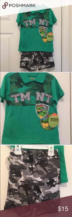 NWT TMNT Outfit 3T Brand new with tag Teenage Mutant Ninja Turtles t-shirt and shorts  Size 3T Matching Sets
