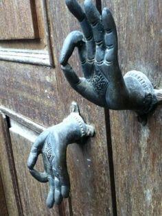 """""""The doors of opportunity open and close quietly. therefore listen intently"""" - Chris Mott Love these door handles Cool Doors, The Doors, Unique Doors, Windows And Doors, Front Doors, Sliding Doors, Door Knobs And Knockers, Knobs And Handles, Gate Handles"""