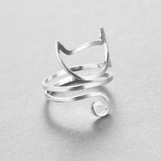 890cba150102 Sterling Silver 925 Women s Twisted Cat Ring. Vintage Silver JewelryGirls  ...