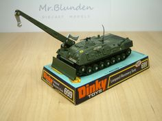 Dinky Toys 699, Leopard Recovery Tank. An unusual version to be modelled, a modified tank base with a REME recovery theme. This diecast model was produced between 1975 and 1977.
