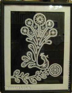 Картина панно рисунок Плетение на коклюшках Птицы 2 Нитки фото 3