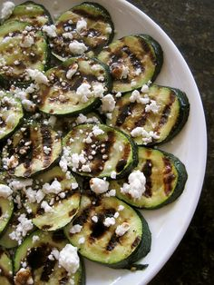 Grilled Zucchini with Goat Cheese and Balsamic-Honey Drizzle