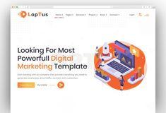 Best Creative Digital Agency WordPress Themes 2020 - New Template Seo Digital Marketing, Online Marketing, Seo Agency, Marketing Training, Creative Portfolio, Creative Business, Wordpress Theme, Web Design, Design Web