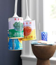 Turn Empty Tin Cans into Hanging Lights