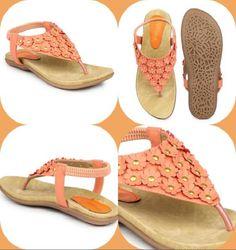 c47b7d2aa61 Shoetopia Women Orange Embellished Flats Rs. 499 from Myntra.com