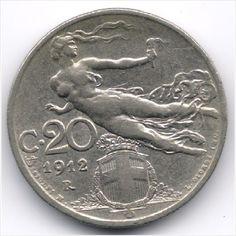 Italy 20 Centesimi 1912 Veiling in de Italië, San Marino & Vatikaan,Europa (niet of voor €),Munten,Munten & Banknota's Categorie op eBid België