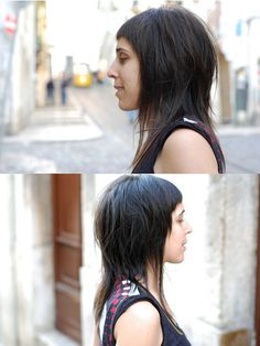 haircut long dark by wip-hairport, via Flickr
