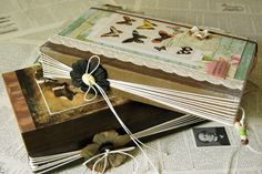 Easy Twine Binding Junk Journal- Great tutorial, easy to understand, using old book cover & your own pages. Binding Covers, Book Binding, Handmade Journals, Handmade Books, Junk Journal, Book Crafts, Paper Crafts, Minis, Bookbinding Tutorial