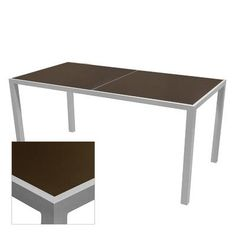 "Source Contract Corsa Bar Table Table Size: 36"" L x 108"" W, Frame Finish: Espresso, Top Finish: Espresso"