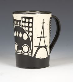 Eiffel Tower Mug by Jennifer Falter: Ceramic Mug available at www.artfulhome.com