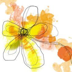 Yellow Liquid Flower Digital at ArtistRising.com
