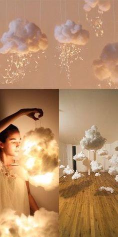 "DIY Lampen Wolken aus Watte Fotografie Idee Porträt Foto Hack Inspiration boy first"" girl names nursery stuff Diwali, Baby Shower Decorations, Wedding Decorations, Wedding Ideas, Prom Decor, Party Wedding, Wedding House, House Party, Hanging Decorations"