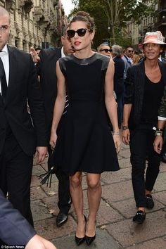 Fashion-forward: Today the royal attended the Gucci runway show at Milan Fashion Week in all black (pictured).