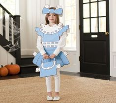 Foamboard Paper Doll Costume...an easy DIY for Halloween, or to use as party decor/photo booth/decor