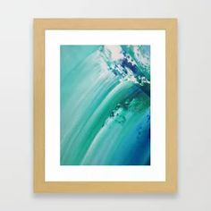 Turquoise Wave Art Detail 2 Framed Art Print Wave Art, Framed Art Prints, Waves, Turquoise, Detail, Abstract, Design, Home Decor, Products