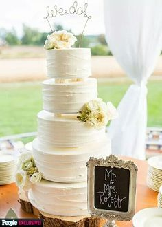 Zac & Tori Wedding Cake