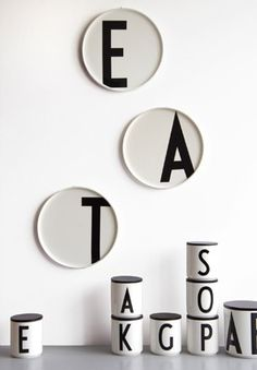 Arne Jacobsen Letters on porcelain cups and plates - by Designletters.dk - www.tempoberlin.com