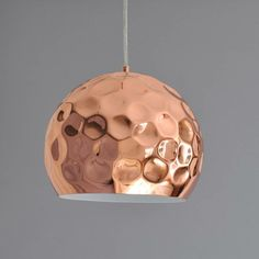 hammered copper pendant light by henry's future | notonthehighstreet.com