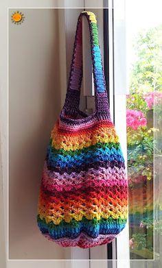 free crochet rainbow bag pattern