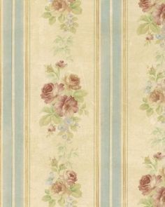 Gorgeous-Watercolor-Rose-Stripe-Wallpaper-Double-Roll-Bolts-FREE-SHIPPING