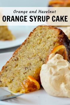 Are you looking for something a little different for your next cake? Give this orange hazelnut cake a try! A lovely afternoon tea served with a hot cuppa. Cake Mix Recipes, Baking Recipes, Dessert Recipes, Orange Recipes, Sweet Recipes, Orange Syrup Cake, Muffin Cake Recipe, Hazelnut Cake, Cupcake Flavors