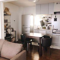 ブラウンインテリア 古いアパート キッチン ダイニングテーブル ブラウン などのインテリア実例 2017 11 05 09 33 51 Roomclip ルームクリップ インテリア リビング インテリア アパート アパートのインテリア