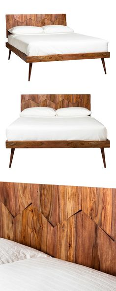 Make your bed with mid-century appeal. Our Cameron Park Queen Bed is crafted with solid sheesham wood and iron metal hardware. Zigzag detailing and hexagon panels along the headboard give this design e...  Find the Cameron Park Queen Bed, as seen in the The Dark Side of Mid-Century Collection at http://dotandbo.com/collections/the-dark-side-of-mid-century?utm_source=pinterest