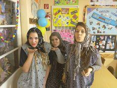 Girls acting as elderly ladies Acting, Lady, Girls, Daughters, Maids
