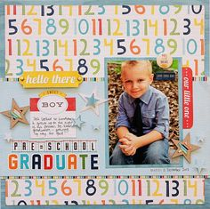 Pre-School Graduate by Zoe Pearn @ scrapbook com