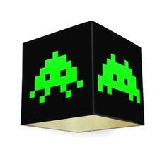 Luminária de Teto: Cúpula Nerd Space Invaders e Loja Online de Decoração - Presentes Criativos e Decoração Criativa de Sala e Quarto - Monky Design