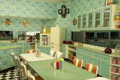1950s kitchen.  love it.