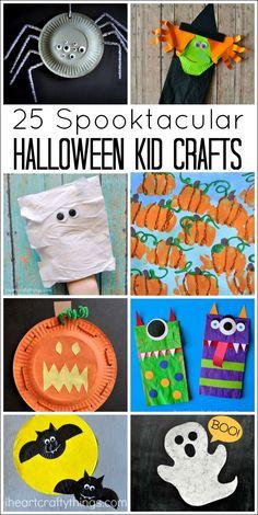 25 Spooktacular Halloween Kid Crafts