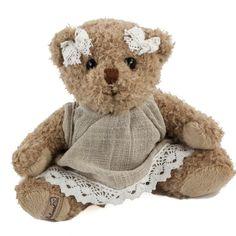 Bukowski-Teddybär-Sophia-sitzend-Plüschteddybär mit süsser Spitze