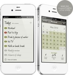 Habit List: Make big changes with little steps! - Now if only they made this for androids.