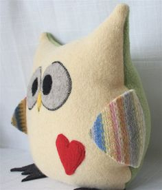 Felted owl plush.