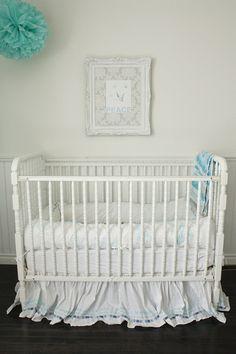 white crib...