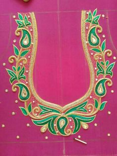 Saree blouse embroidery