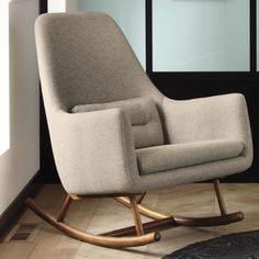 Well-designed seating. With plush lounge chairs, sleek side chairs and living room chairs for virtually any space, CB2 offers modern chairs created for comfort and style. #RockingChair