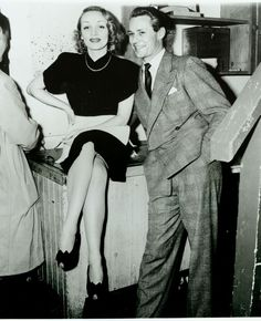Historic Photograph of Marlene Dietrich & Jess Barker At The Hollywood Canteen