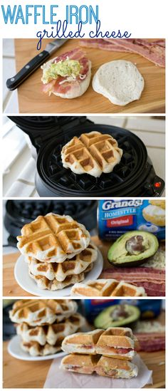 How to Make a Waffle Iron Grilled Cheese - Tutorial - and a Bacon Avocado Grilled Cheese Recipe | pillsbury.com