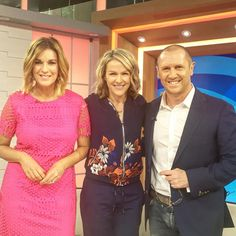 Thanks @morningshowon7 for having me in this morning to talk about #activenationday and what's new for @lornajaneactive ... Always good to see you @kyliegillies and @larryemdur Lx