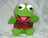 Vintage Baby Kermit the Frog Muppet Babies Christmas Doll McDonald's Toy Fuzzy Childrens Toy Holiday Decor Home Decor Vintage Decor  come and see this great treasury full of great items for babies http://www.etsy.com/treasury/MjM0NDk0MjB8MjcyMTA0MDk0Mw/baby-cute-christmas?ref=af_shop_tre#
