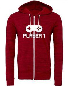 player 1 Zipper Hoodie