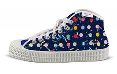 tenisky BonBon mix tmavý tikoki Converse Chuck Taylor High, Converse High, High Top Sneakers, Chuck Taylors High Top, Designer Shoes, High Tops, Fashion, Candy, Moda