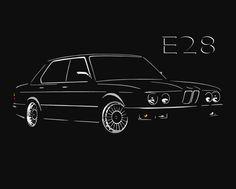 BMW E28 T Shirt Classic 520 525 528 535 M5 5-Series S - 5XL + Langarm